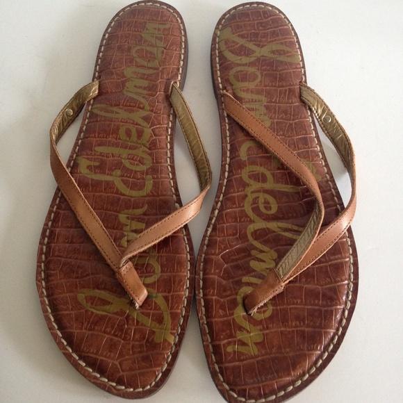 1b100866b Sam Edelman Gracie Brown Leather Thong Sandal 12. M 5b7567b204e33d6ff43034ce